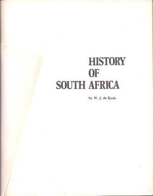 History of South Africa-W. J. de Kock_P