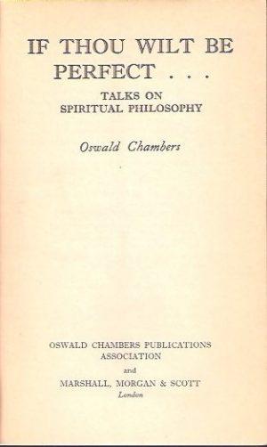 If thou wilt be perfect-Oswald Chambers-0551053186_P