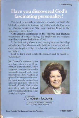 Intimate friendship with God-Joy Dawson-0800790847_B
