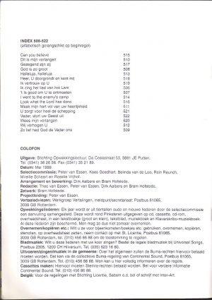 Opwekkingsliederen, nummers 506-522 - Partituur_Index