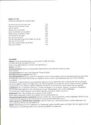 Opwekkingsliederen, nummers 711-722 - Partituur_Index