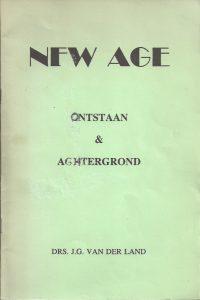 New Age Ontstaan & Achtergrond-Drs. J.G. van der Land
