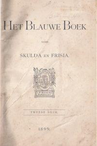 Het Blauwe Boek-Skulda en Frisia-Revers, 2e druk 1899