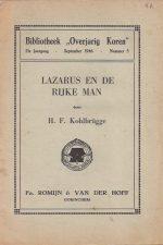 Lazarus en de rijke man door H.F. Kohlbrugge-Bibliotheek Overjarig Koren, 21e jaargang Nr. 5-September 1946