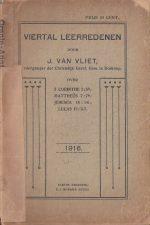Viertal leerredenen door J. van Vliet-1916