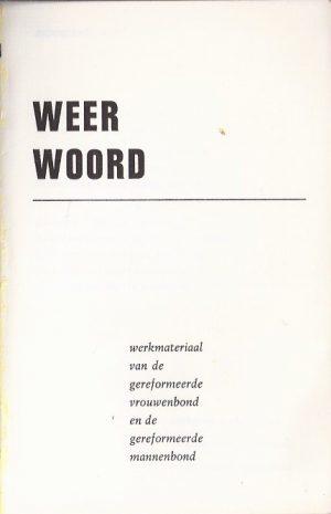 Weer Woord-werkmateriaal van de gereformeerde vrouwenbond en de gereformeerde mannenbond_P