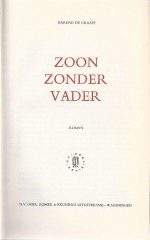 Zoon zonder vader-Barend de Graaff-1962_P