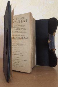 Het Nieuwe Testament, of, Alle boeken des Nieuwen Verbonds Onzes Heeren Jezus Christus 1884-Leren mini zakbijbel