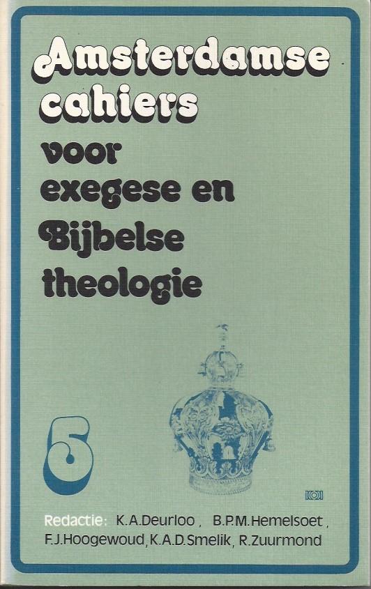 Amsterdamse cahiers voor exegese en Bijbelse theologie, cahier 5-9024206464