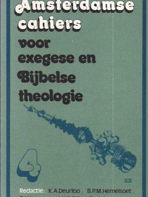 Amsterdamse cahiers voor exegese en bijbelse theologie-Cahier 4-9024227321
