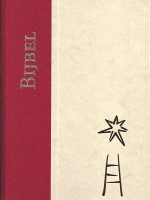 Bijbel-De Nieuwe Bijbelvertaling-Kerkbijbel groot formaat-Rood Beige-9065392610-9789065392619