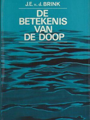 De betekenis van De Doop-J.E. van den Brink-(Zo goed als Nieuw)