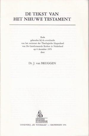 De tekst van het Nieuwe Testament-Dr. J. van Bruggen-9060153286_P