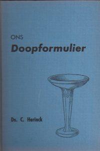 Ons Doopformulier-Ds. C. Harinck-1966