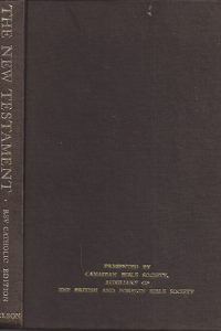 The New Testament revised standard version catholic edition Nelson 1966