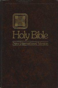Holy Bible New international version Large Print Edition Single column format Zondervan Bible Publishers ©1978