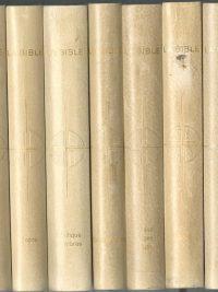 La Bible Editions Rencontre 1970 Emile Osty et Joseph Trinquet 7 volumes