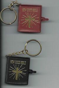 Mini Holy Bible Cross Pendant Keychain Religious Christian Keyring Decor Gifts