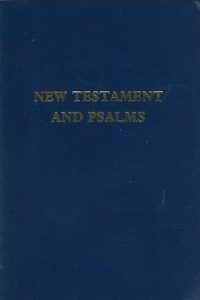 New Testament and Psalms Blue Flexible Cover Trinitarian Bible Society 0907861180 9780907861188