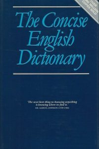 The concise English dictionary Omega Books 1982 0907853153 9780907853152