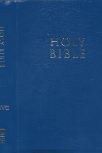 Holy bible king james version blue leather look gift award Zondervan 2002 031093883X 9780310938835