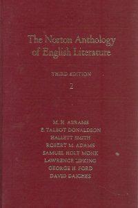 The Norton anthology of English literature volume 2 M H Abrams 0393093077 9780393093070