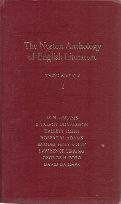 The Norton anthology of English literature volume 2 M H Abrams 0393093077 9780393093070