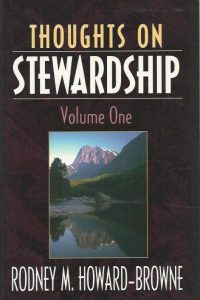 Thoughts on stewardship Volume one Rodney M Howard Browne 1884662005 9781884662003