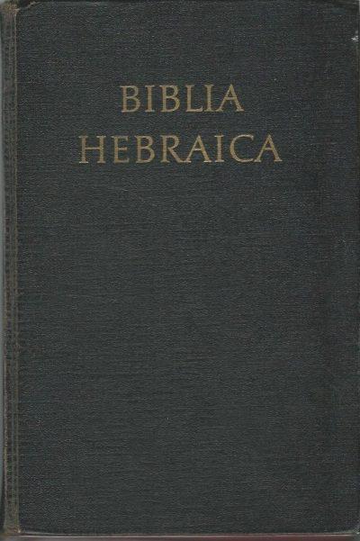Biblia Hebraica edidit Rud. Kittel P. Kahle zwart linnen