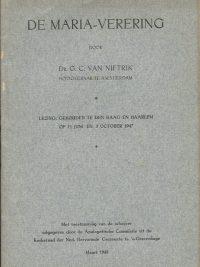 De Maria verering door Dr. G. C. van Niftrik