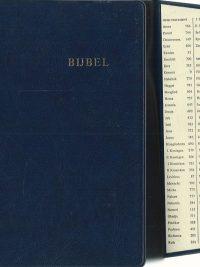 Bijbel 1992 met opzoekflap donkerblauw 9061266181 9789061266181