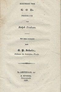 Getuigen bijgebragt voor God predikatie van Ralph Erskine H.P. Scholte
