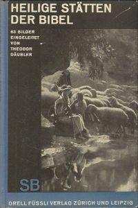 Heilige stätten der Bibel 62 Bilder eingeleitet von Theodor Daubler Schaubucher 13 Emil Schaeffer
