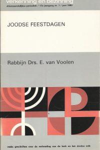 Joodse Feestdagen Rabbijn Drs. E. van Voolen