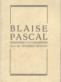 Blaise Pascal Prof. Dr. Wilfred Monod De oud Katholieke pers 1931
