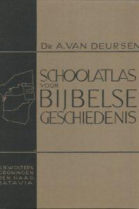 Schoolatlas voor bijbelse geschiedenis met een alfabetisch register van namen Dr. A. van Deursen 1e druk 1934