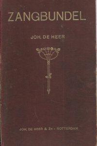Zangbundel Joh. De Heer 926 liederen en koren geschikt voor orgel piano of gemengd koor 11e druk binding slecht