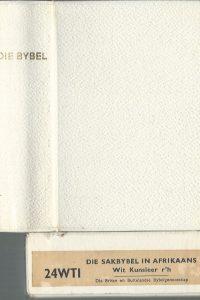 Die Bybel 1964 Die sakbybel in Afrikaans Wit Kunstleer rh 24 WTI