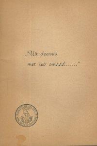 Uit deernis met uw smaad De Vrije Universiteit Vereeniging op Hooger Onderwijs op Gereformeerden Grondslag 4e druk 1953