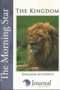 The Morning Star Journal-Volume 16-The Kingdom-No.2-Kingdom Authority-1929371187-9781929371181