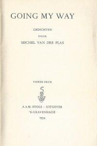 Going my way gedichten door Michel van der Plas 4e druk 1954 P
