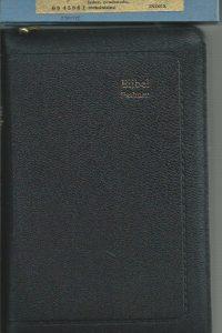 Bijbel Psalmen Major Bijbel Statenvertaling met Psalmen en 12 Gezangen Zwartleren band duimgrepen goudsnee in foudraal Jongbloed 0645861