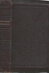 Psalmen en gezangen voor den eredienst der Nederlandse Hervormde Kerk 1938 bruin leer 15e druk Evang. Gezangen