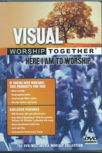 Visual Here I am to worship DVD with 10 worship songs with lyrics and visuals 724359840895