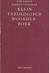 Klein theologisch woordenboek Karl Rahner Herbert Vorgrimler