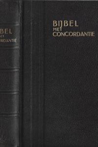 Bijbel met concordantie De Nederlandsche Bijbel Compagnie Bruin leer met gouddruk